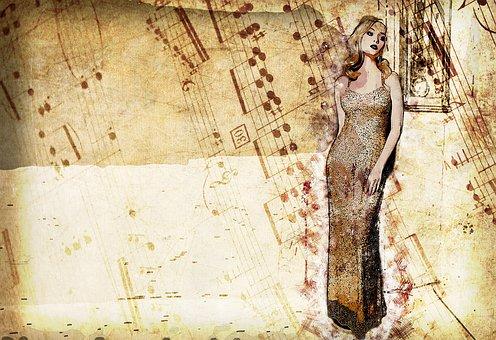 Woman, Elegant, Evening Dress, Female