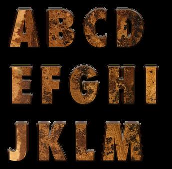 Alphabet, Letters, English, A-z, Scrapbook