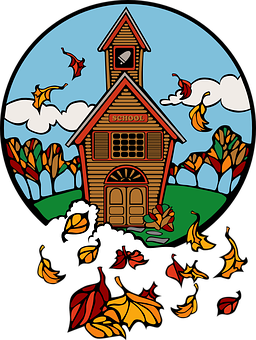 Fall, Autumn, Seasons, Building, Home, House