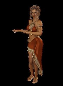 Woman, Dress, Hair, Elegant, Clothing