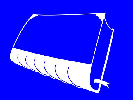 Book, Cart, Hard, Cover, Blue, Marker