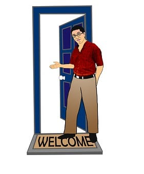 Welcome, Come In, Welcome Home, Home, Guest, Greet