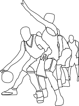 Basketball, Players, Game, Team, Dribble