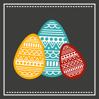 Easter, Fashion, Design, Dish, Tinte, Colors, Vector