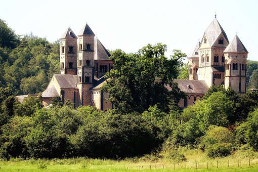 Landscape, Monastery, Eifel, Maria Laach
