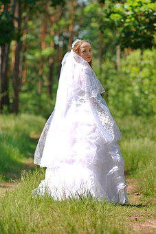 Wedding, Bride, Marriage, Woman, Love, People, Romantic
