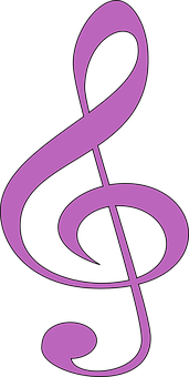 Clef, Music, Purple, Sound, Notation