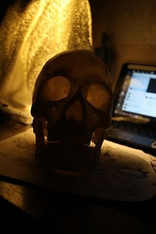 Skull, Death, Mask, Horror, Dark, Atmosphere