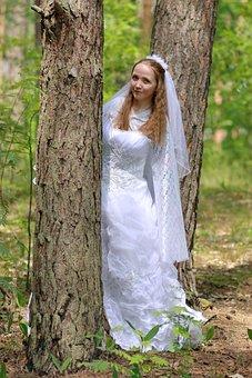 Wedding, Bride, Marriage, Woman, People, Love, Romantic