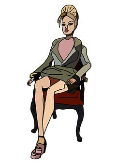 Secretary, Business, Woman, Chair, Attire, Office, Sit