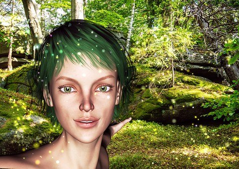 Elf, Woman, Fantasy, Friendly, Forest, Fairytale
