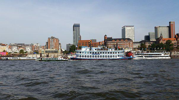 Hamburg, Port, Elbe, Water, Hanseatic City, River