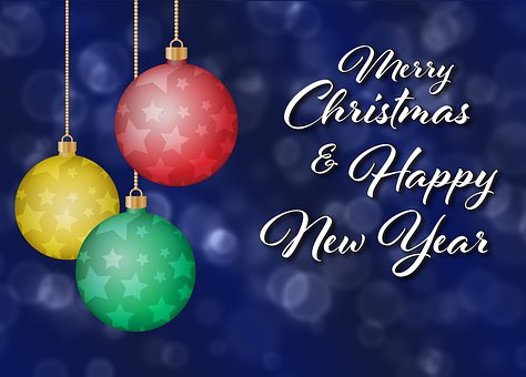 Christmas, Ornament, Greeting, Card, Merry Christmas