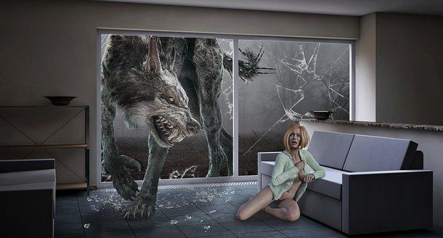Woman, Werewolf, Myth, Fear, Weird, Horror, Evil, Wolf