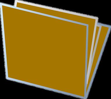 Folder, Document, Office, File, Data, Open, Brown, 3d