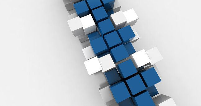 Cube, Blue, Design, Modern, Cube Shape