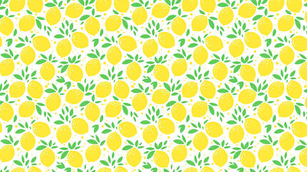 Lemon, Template, Sheet, Foliage, Citrus, Fruit, Fresh