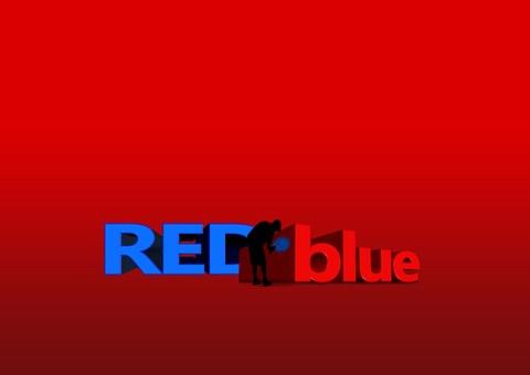 Red, Blue, Color, Font, 3D