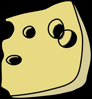 Swiss, Cheese, Wedge, Slice, Holes, Dairy, Snack
