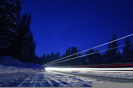 Winter, Street, Road, Snow, Finland, Christmas, Frost