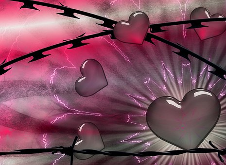 Barbed Wire, Background, Grunge, Abstract, Floral