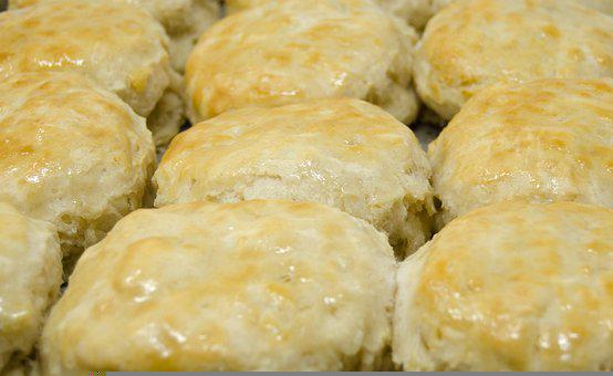 Biscuits, Buttery, Homemade, Food, Bakery, Baked, Fresh