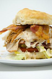 Bacon, Lettuce, Tomato, Club, Sandwich, Meat, Cheese