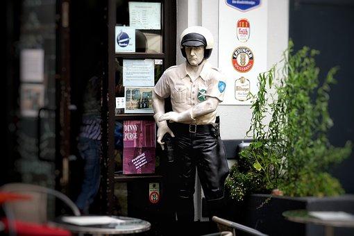 Display Dummy, Cop, Helm, Uniform Police, Pub, Deco