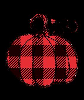 Buffalo Plaid Pumpkin, Pumpkin, Fall