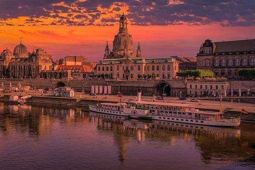 Dresden, Germany, Cityscape, Saxony, Frauenkirche