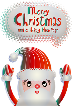 Christmas Santa, Beads, Balls, Poinsettia, Holly