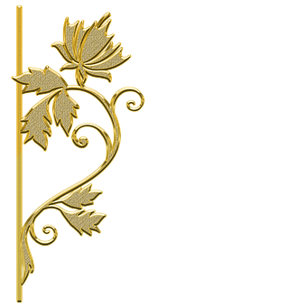 Pattern, Ornament, Decor, Gold, Golden, Gold Element