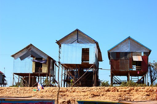 House, Khmer, Cambodia, Tourist, Ancient