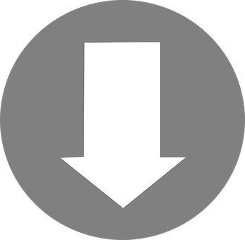 Arrow, South, Down, Direction, White