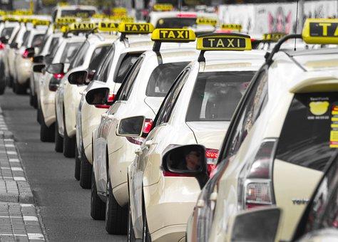 Taxi, Jam, Traffic, Strike, Vehicle, Auto, Transport