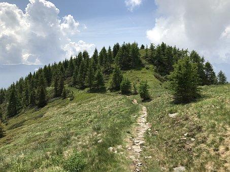 Towards The Gaggio, Alpine Route, Alps, Alpine