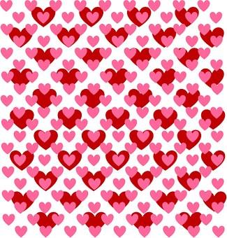 Heart, Love, Pattern, Red, Pink, Design, Valentine, Day