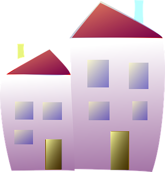 House, Home, Neighbours, Roof, Chimney