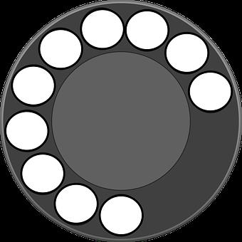 Rotary, Dial, Phone, Retro, Telephone