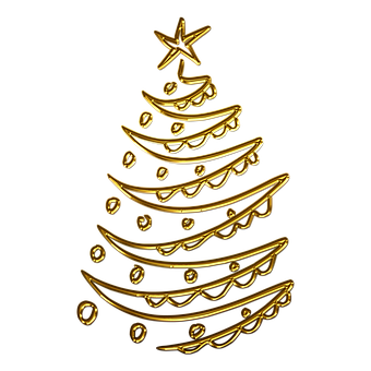 Spruce, Christmas Tree, Christmas, Gold, Golden
