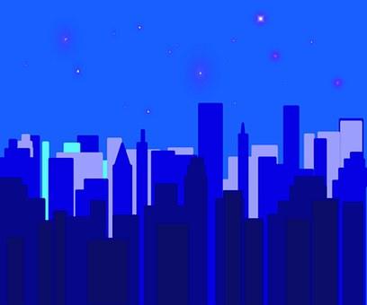 Night, Time, Cityscape, New, York, Stars, Over, Ny, Big