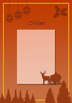 Christmas, Menu, Eat, Holiday, Symbols