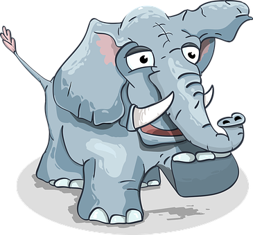 Elephant, Cartoon, Steps, Baby Elephant, Funny, Animal