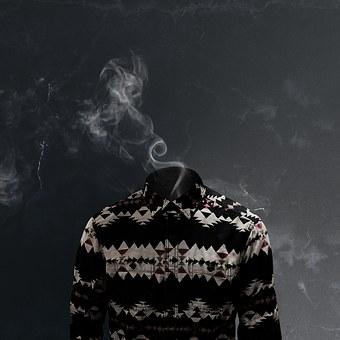 Surreal, Art, Shirt, Fashion, Smoke, Smoking, Abstract