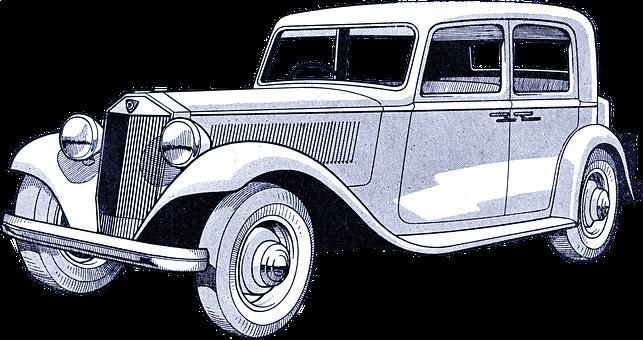 Car, Vintage, Drawing, Old, Antique, Automobile