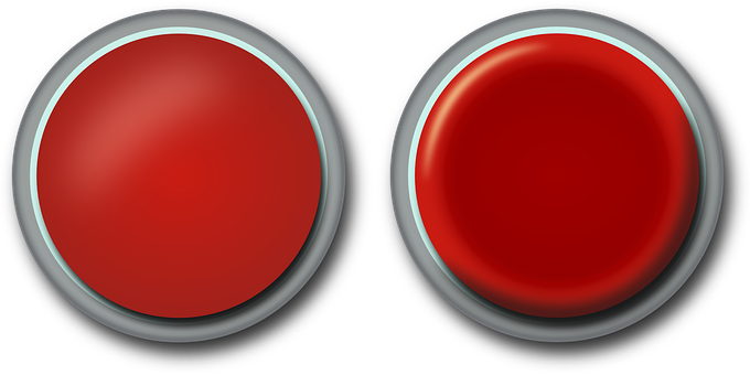Button, Press, Push, Red, Activate