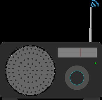Radio, Icon, Signal, Speaker, Tuner