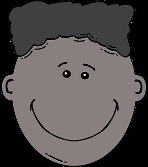 Black, Face, Kid, Boy, Happy, Expression
