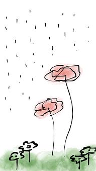 Spring, Flower, Rain, Green Grass, Spring Flowers