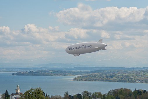 Zeppelin, Airship, Lake Constance, überlingen, Mainau